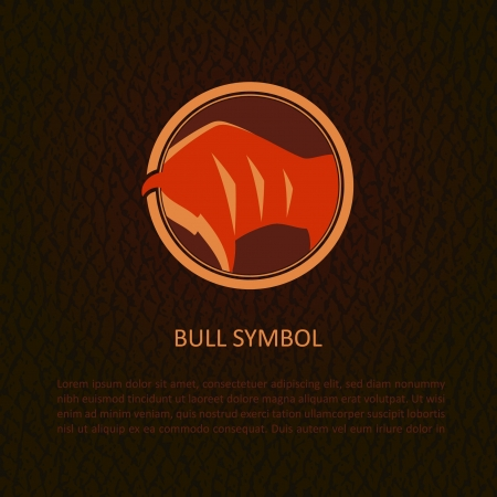 Bull symbol   Stock Vector - 15095099