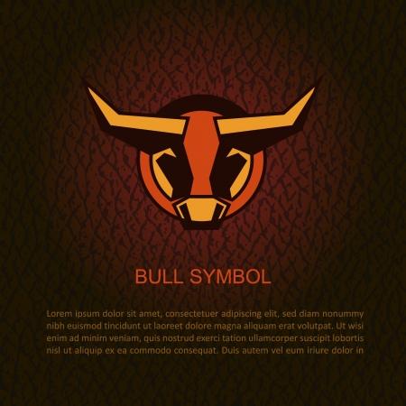 Bull head illustration  Illustration