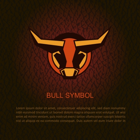 Bull head illustration  Illustration