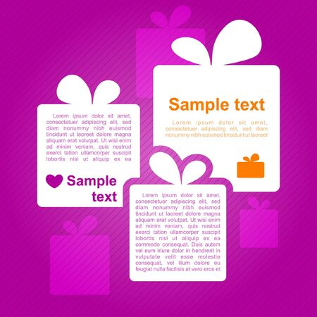 Gift boxes_Place for your text  Vector