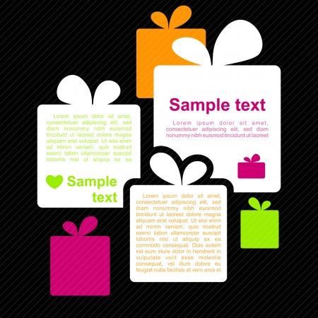 Projekt presents_Background Wektor koncepcja pocztówek lub broszurach