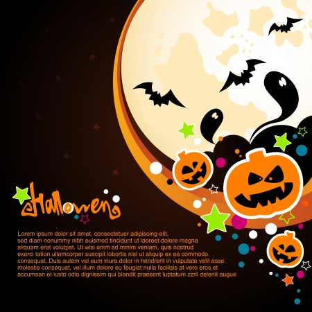Karta Halloween lub tła Ilustracja