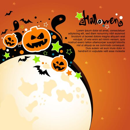 Halloween  card or background   Vector