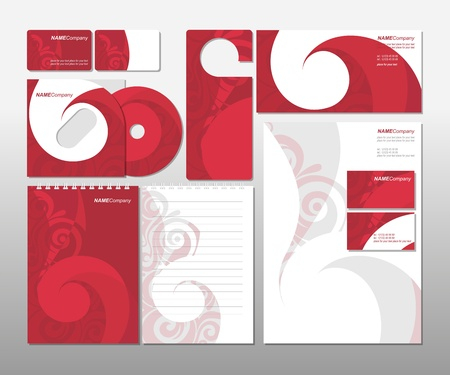 red swirl: Corporate Template