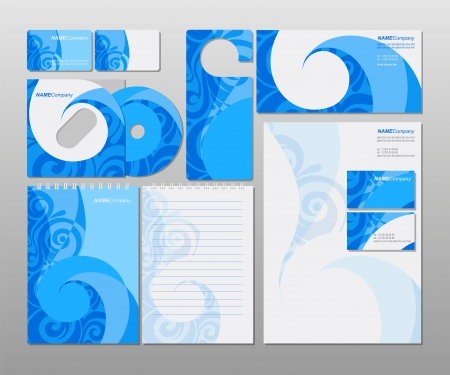 Corporate identity kit or business kit  Vector