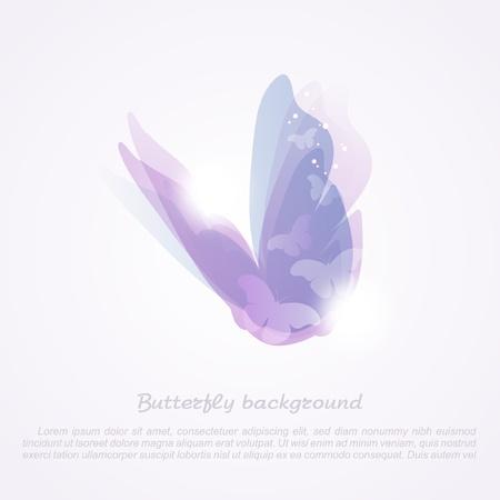 tekening vlinder: Abstract butterfly_Vector achtergrond