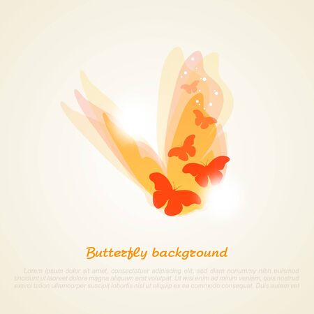 butterfly hand: Abstract vector illustration of a butterfly