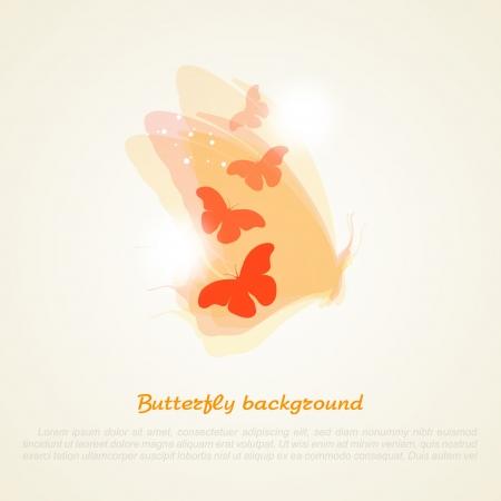 fantasize: Resumen ilustraci�n vectorial de una mariposa