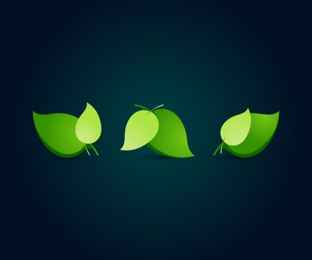 Leaf nature icons  Vector