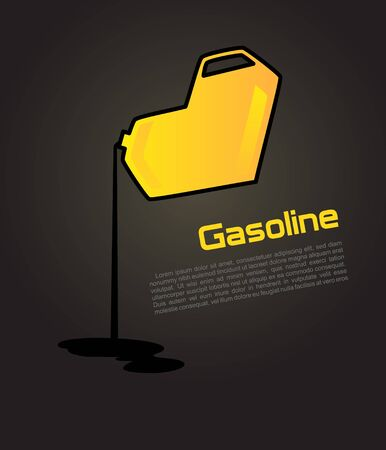 oil and gas industry: Jerrycan with fuel_Vector concept of green cans in the form of heart   Illustration