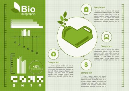Ökologie info Graphischen Sammlung Vektorgrafik