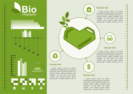 Ecologie info graphics collectie Vector Illustratie