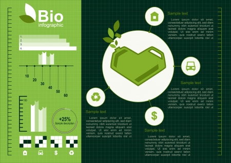 Ecology info graphics Vector