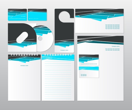 letter head: corporate design for business   Illustration