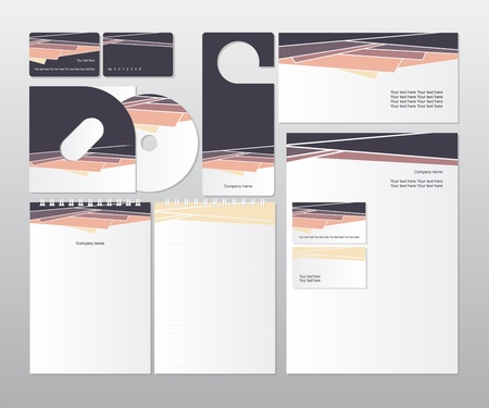 Corporate identity business set_illustration  Vector