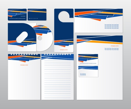Wektor corporate design dla biznesu Ilustracja