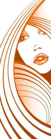 hair treatment: Girl fashion  Illustration