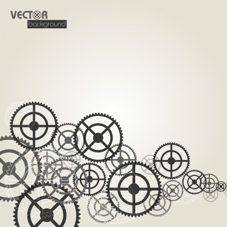 Gears background_vector illustration  Stock Vector - 16052451