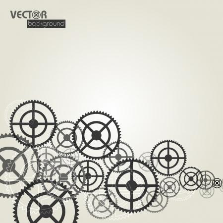 Gears background_vector illustration Stock Vector - 16052451