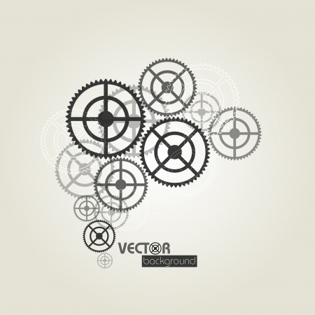 transmission line: Gears background_vector illustration