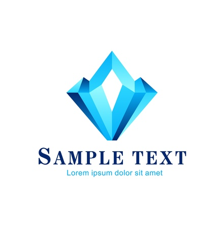 unbreakable: Diamond symbol, design icon, concept  Theme of luxury and wealth