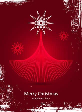 Christmas card  Christmas tree  Vector Illustration Stock Vector - 16444372