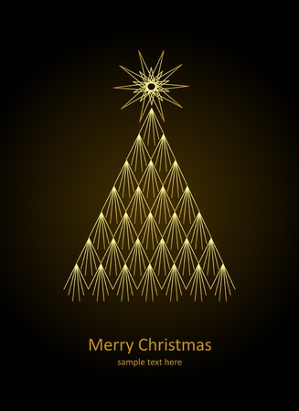 Christmas card  Christmas tree  Vector Illustration  Stock Vector - 16444371