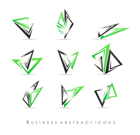 proffesional: Business abstract icons
