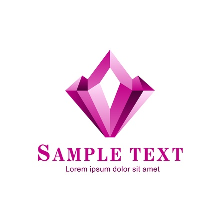Abstract crystal_Corporate icon Vector