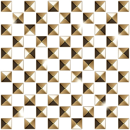 Metal studs pattern  Vector