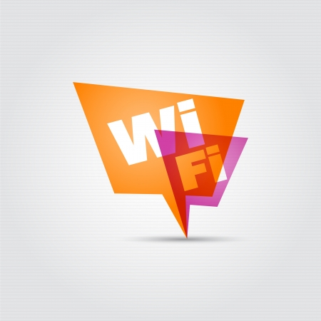 wi fi icon: Free wifi - speech bubbles   Illustration