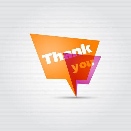 Thank you - speech bubbles   Stock Vector - 16245340