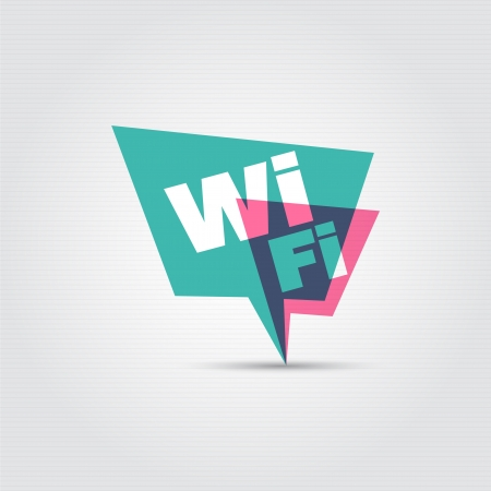 Speech bubbles  Wi Fi  Vector