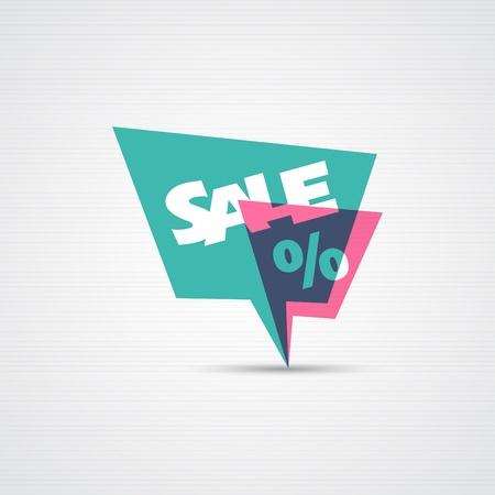 Speech bubbles  Sale  Vector