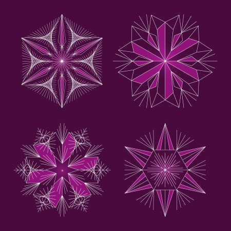 Beautiful snowflakes set for christmas winter design  Stock Vector - 16668010