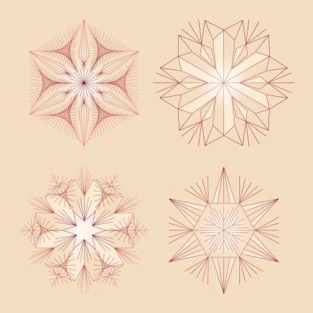 Snowflake Vectors Stock Vector - 17052519