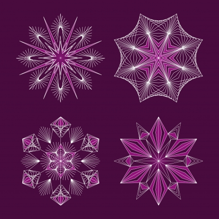 Beautiful snowflakes set for christmas winter design  Stock Vector - 16668011