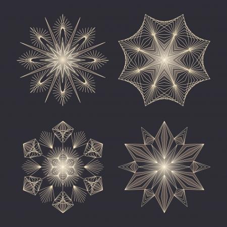 fake: snowflakes set for Christmas design   Illustration