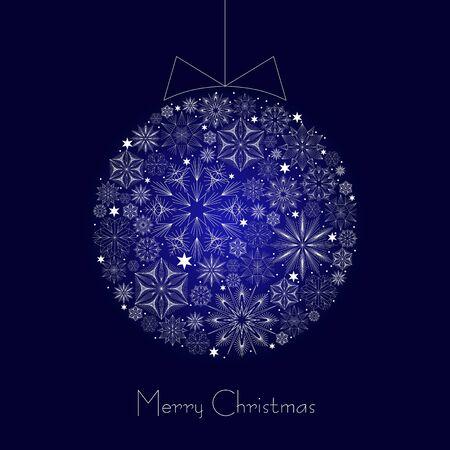 Christmas Greeting Card  Vintage card with Christmas ball   illustration Stock Vector - 16843220