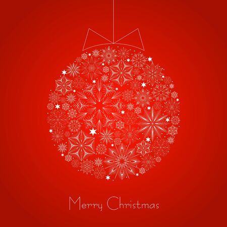 background with Christmas ball  Stock Vector - 16843225