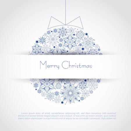 Christmas ball illustration   Stock Vector - 16843240