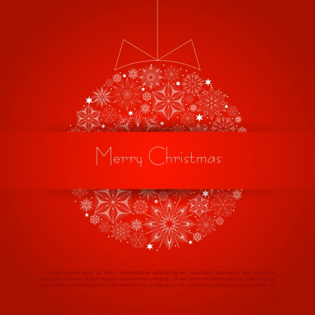 red color background with Christmas ball Stock Vector - 16668020