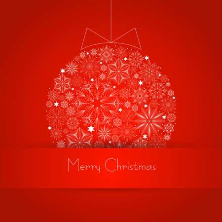 Vector background with Christmas ball Stock Vector - 16668015