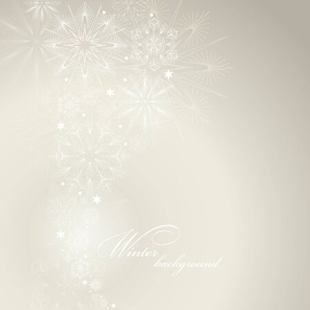 Christmas background with snowflakes and place for text Stock Vector - 16668014
