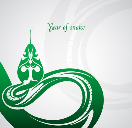 Abstract snake symbol New Year 2013 Vector