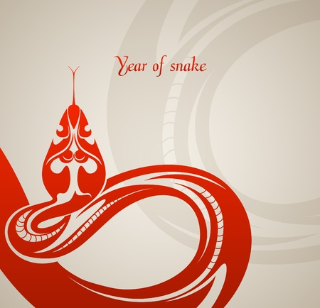 New year background with abstract snake  Vector