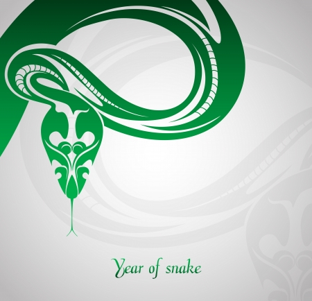 snake year: Abstract snake symbol New Year 2013