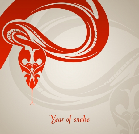 New year background with abstract snake