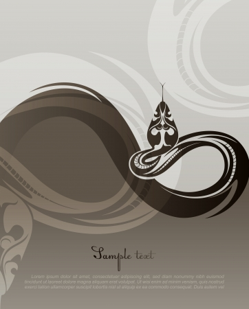Background with snake  2013 new year   Vector