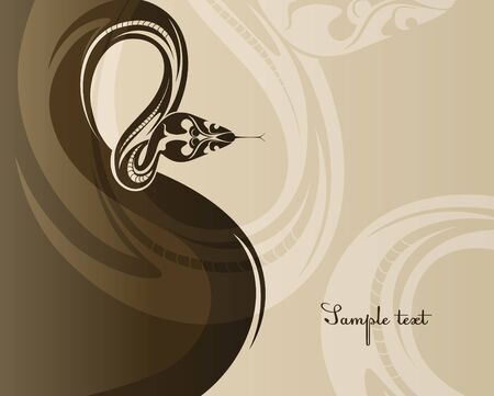 New year poster with a snake  EPS10 vector Stock Vector - 17052526